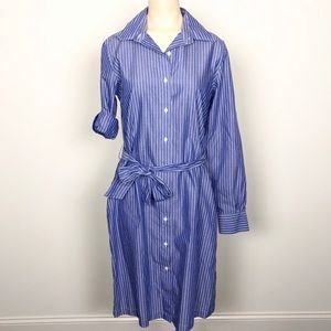 NWOT Brooks Brothers blue and white shirtdress